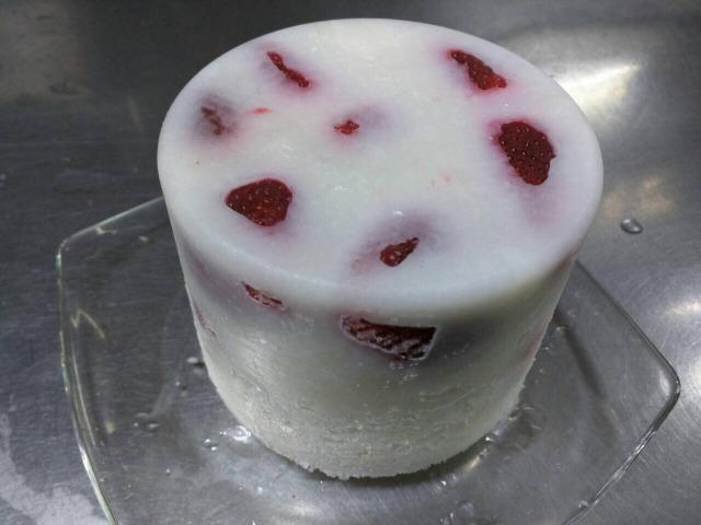 果実入りパウダーアイス